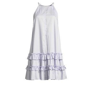 Rebecca Taylor poplin ruffle tee dress